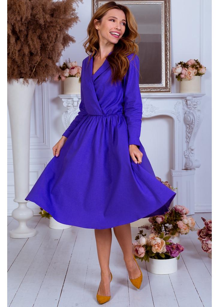 Изысканное платье из льна