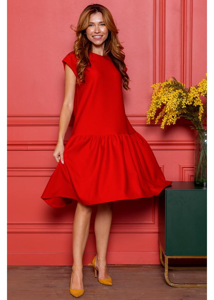 Тепла трикотажна сукня