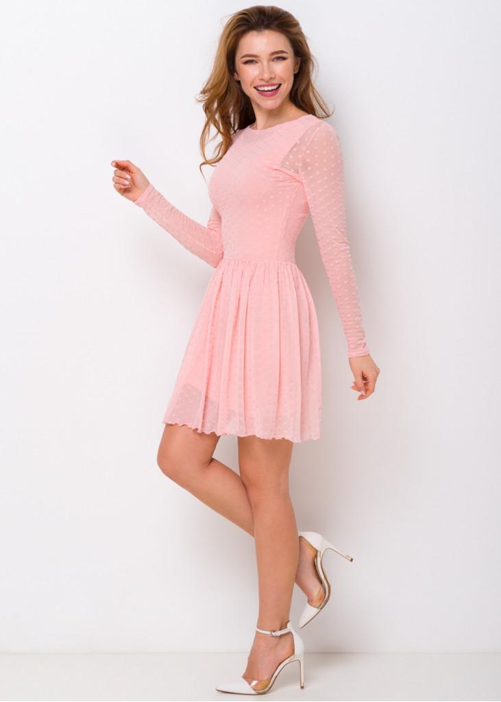 Коротка сукня в горошок