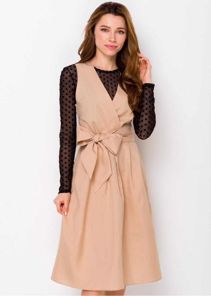 Святкова сукня з поясом-бантом