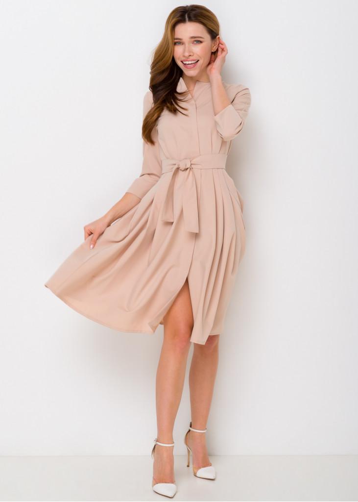 Вишукана сукня з пишною спідницею на гудзиках