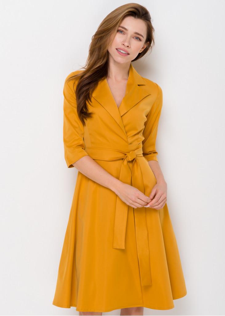 Стильна сукня на-запах з поясом
